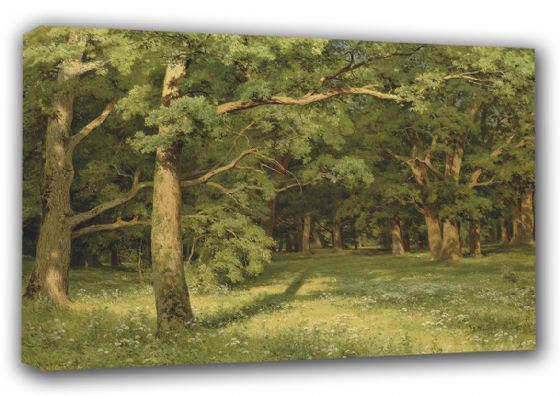 Shishkin, Ivan Ivanovich: The Forest Clearing. Fine Art Canvas. Sizes: A3/A2/A1 (00562)